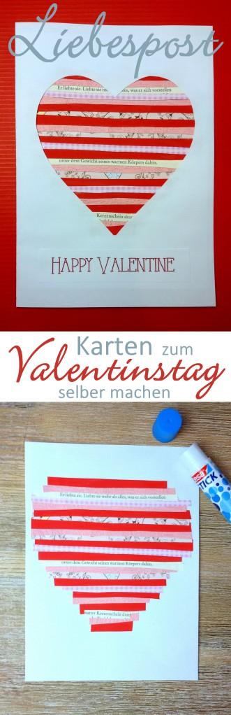 Valentinskarte basteln DIY