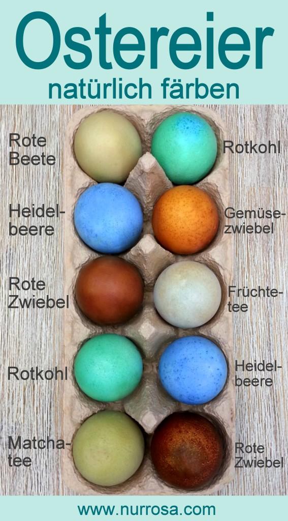 Ostereier natürlich färben Anleitung