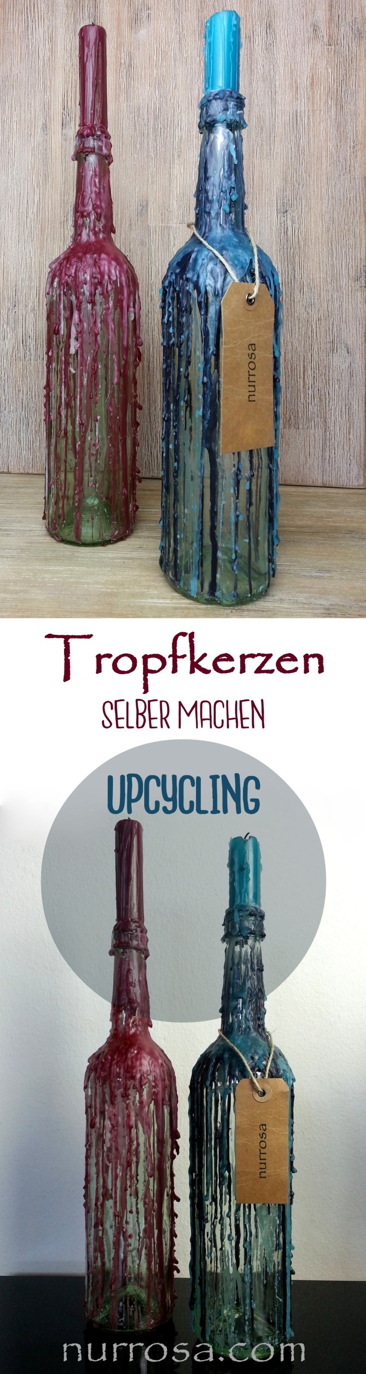 upcycling tropfkerzen selber machen nurrosa. Black Bedroom Furniture Sets. Home Design Ideas