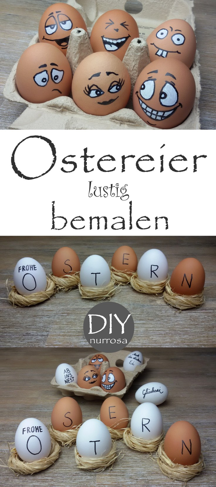 Ostereier bemalen DIY