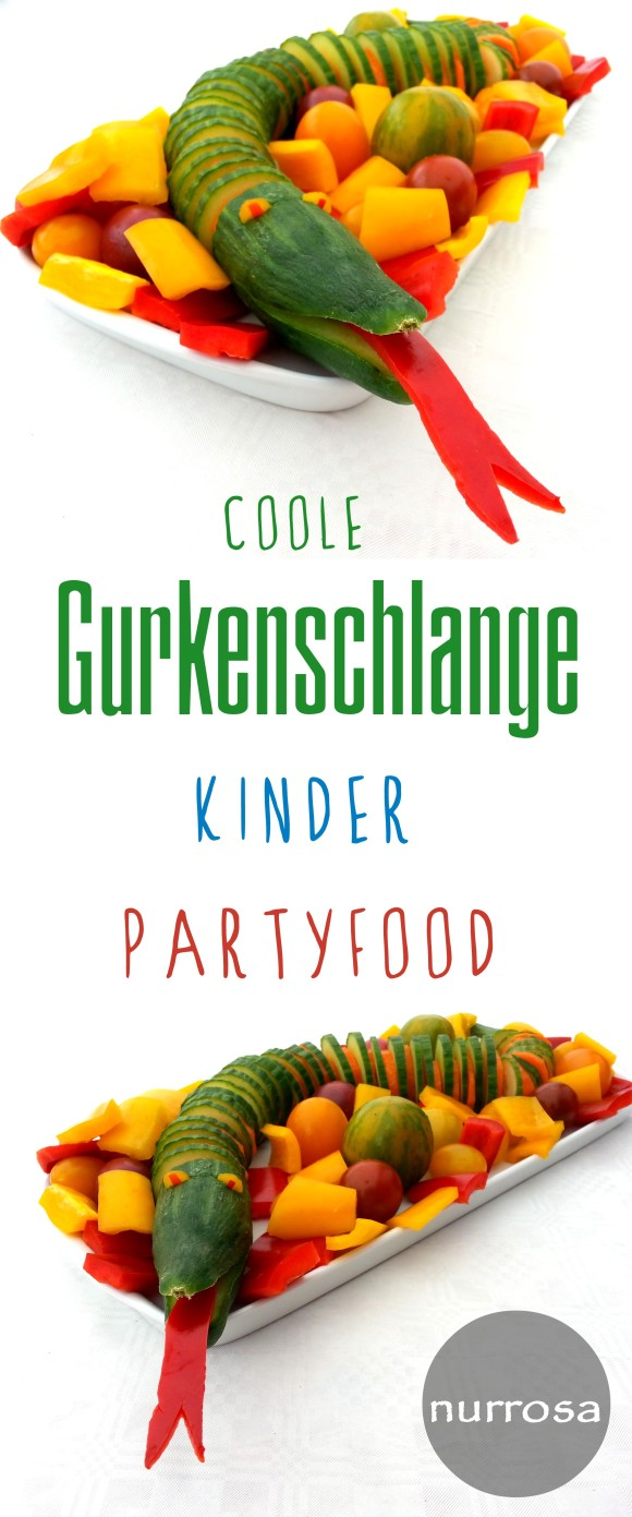 Gurkenschlange Kinder Partyfood