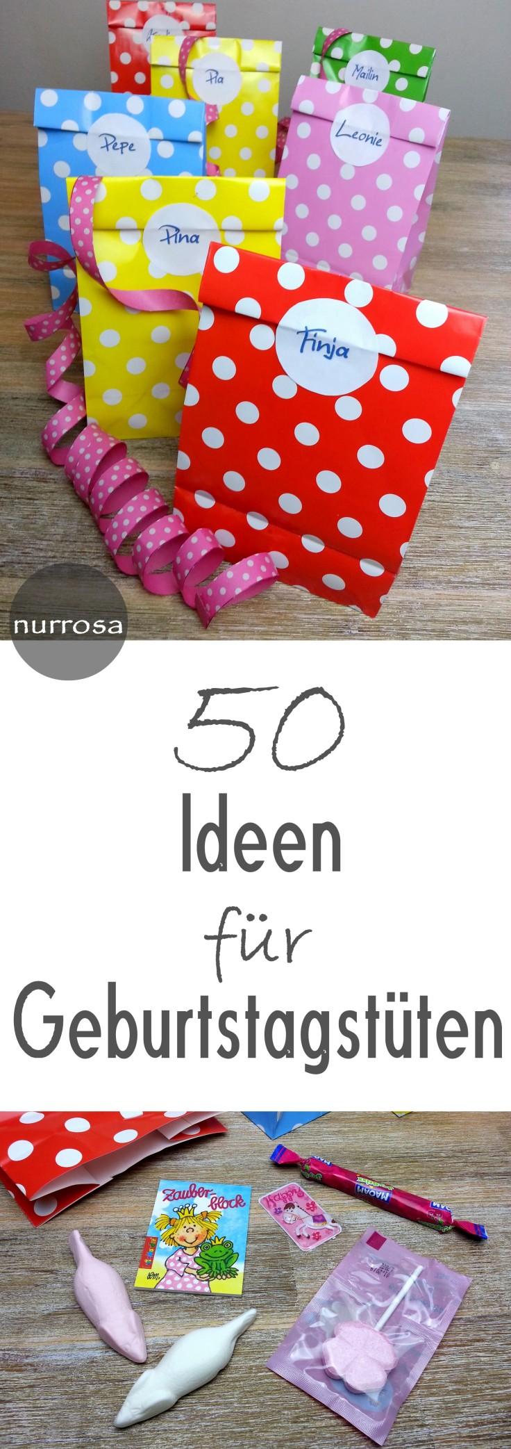 50 Ideen für Geburtstagsmitgebsel / Geburtstagstüten – nurrosa