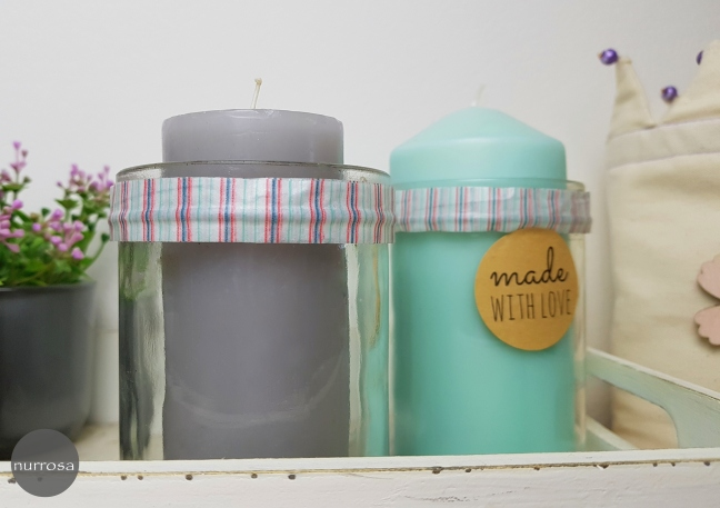Altglas Upcycling Dekoration Kerzen