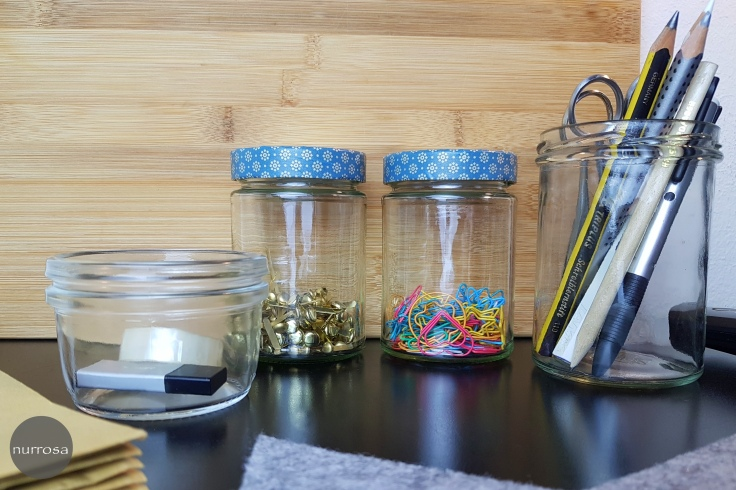 Altglas Upcycling Tipps Büro