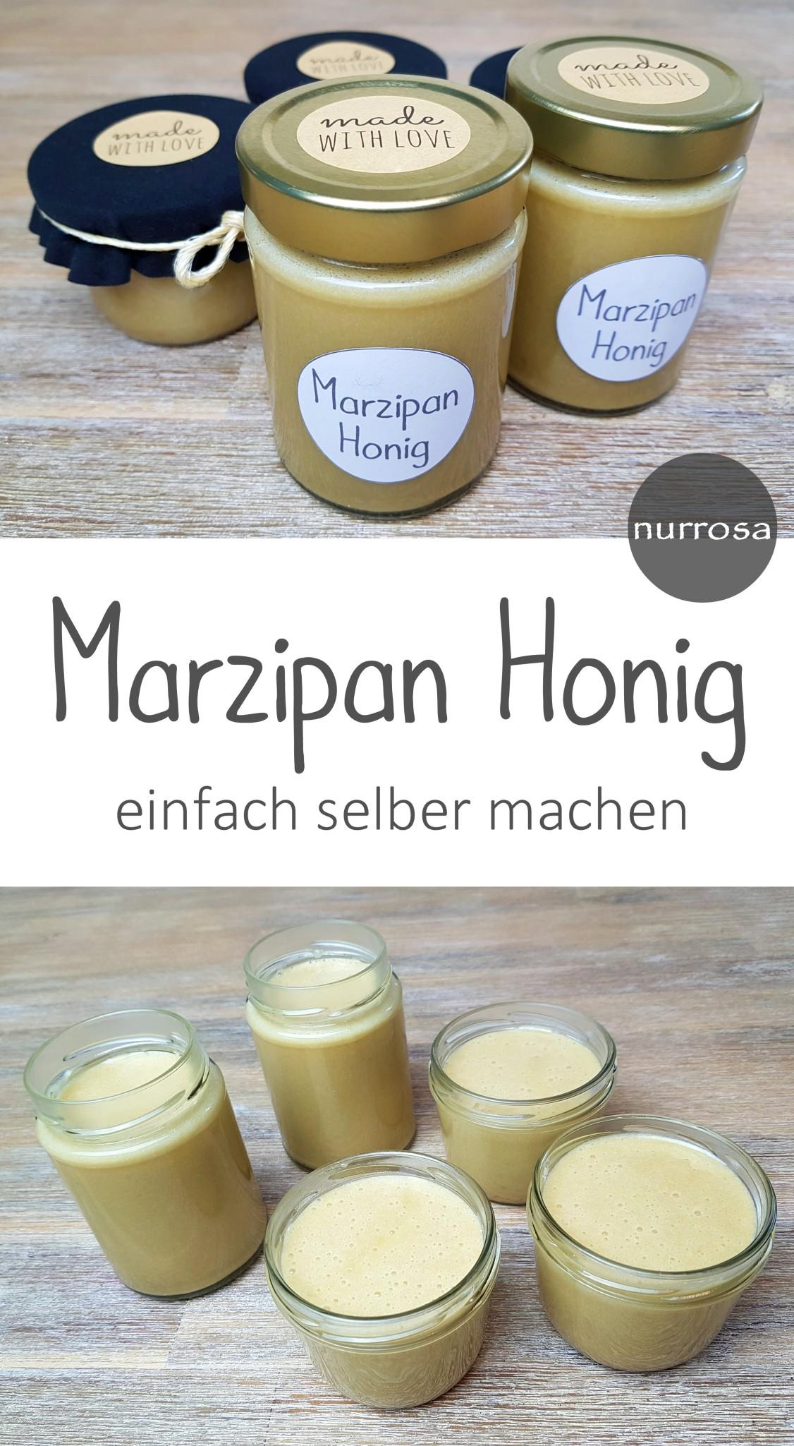 Marzipan Honig selber machen Rezept