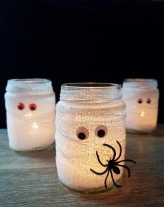 Mumien Lichter DIY Halloween