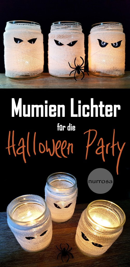 Mumien Teelichter DIY Halloween