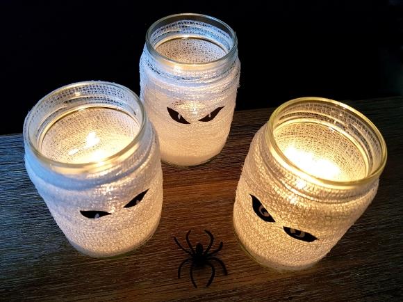 Mumien Teelichter Halloween Dekoration