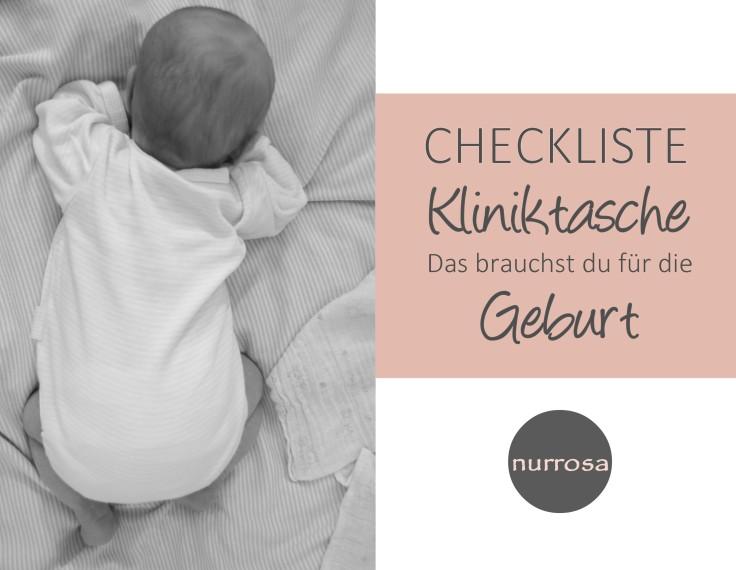 Checkliste Kliniktasche für die Geburt