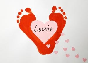 Fußabdruck Herz