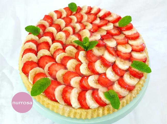 Erdbeer-Bananen-Kuchen
