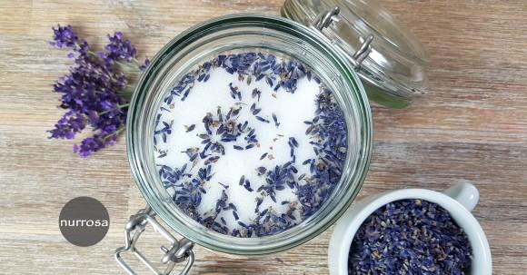 Lavendelzucker selber machen Rezept