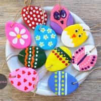 Ostereier aus Salzteig basteln - DIY