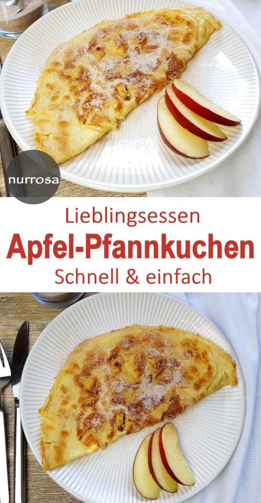 Apfelpfannkuchen schnell & einfach