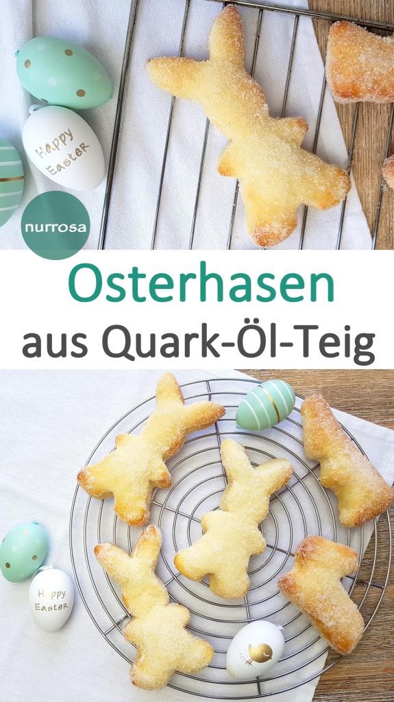 Osterhasen aus Quark-Öl-Teig