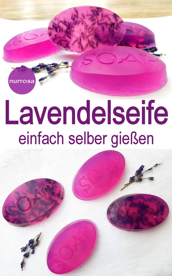 Lavendelseife selber gießen