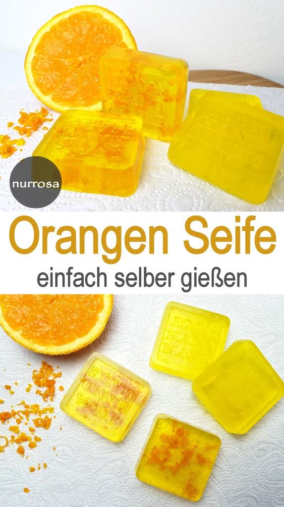 Orangen Seife selber gießen