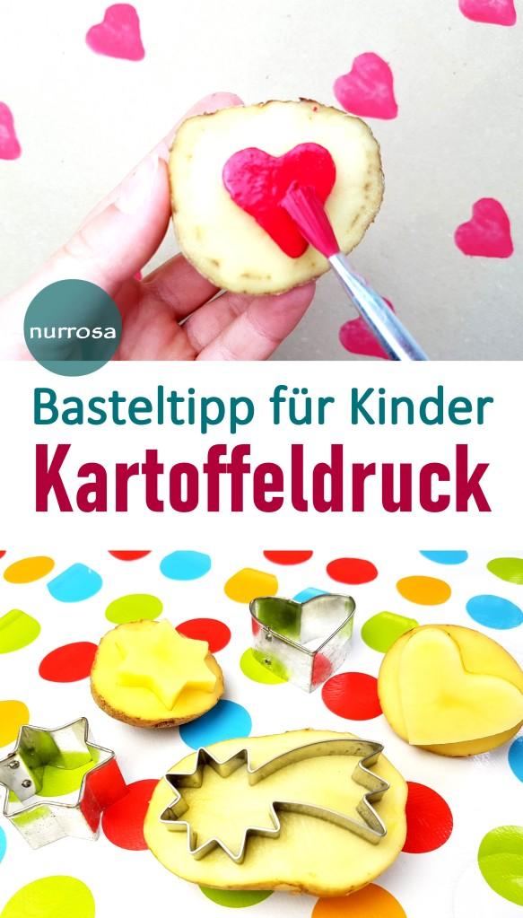 Kartoffeldruck Basteltipp