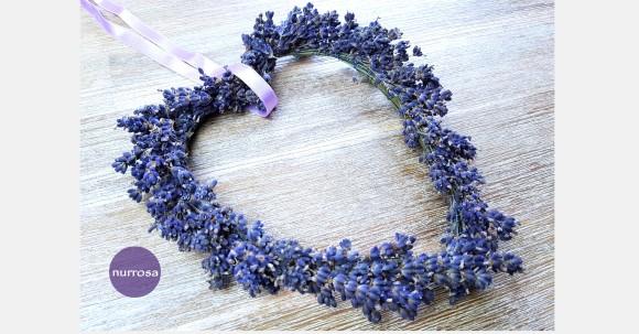 Lavendelherz binden DIY Anleitung