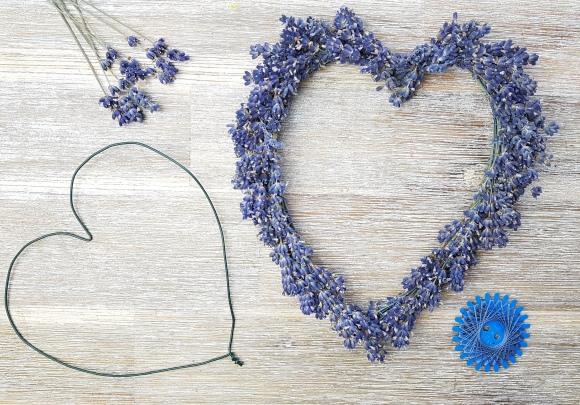 Lavendelherz binden DIY