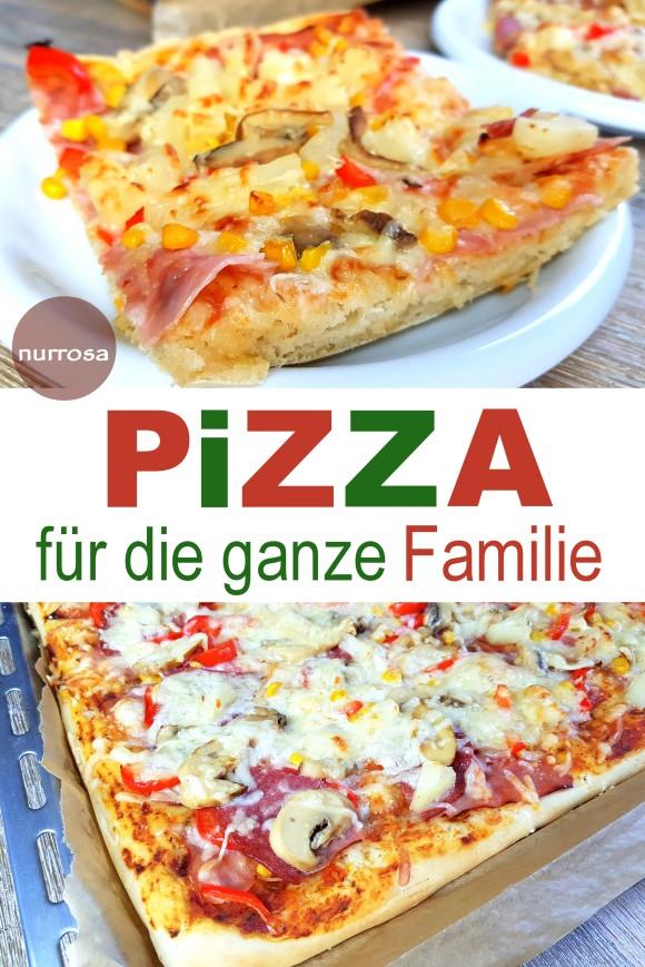 Pizza für die ganze Familie - Rezept