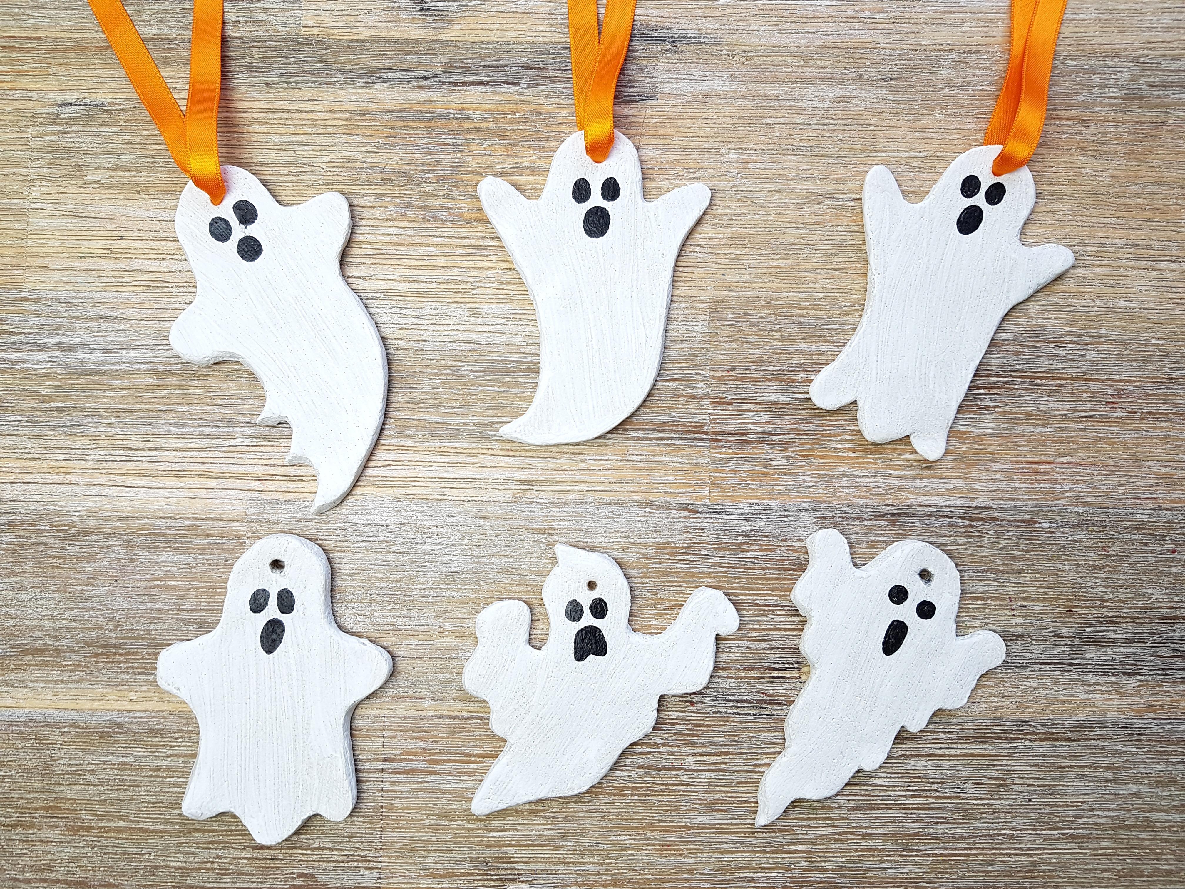 Halloween Geister Salzteig
